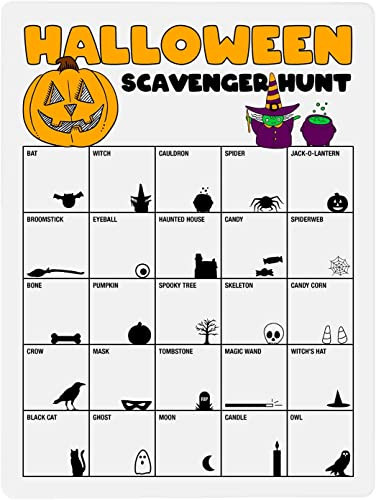 lowest Halloween Dry Erase wholesale Board wholesale Scavenger Hunt Game for Kids Party, 9 x 12 Inches with 25 Items to Find online