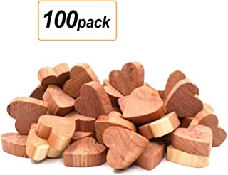 SMLHOME Cedar Wood Blocks for Clothes Storage, Cedar Balls and Sachets Bags, Cedar Chips for Closets and Drawers, Cedar Hangers for Closet (Cedar 100Loves)