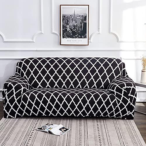 MKQB Funda de sofá retráctil Flexible, Funda Protectora Antideslizante firmemente Envuelta para el sofá de decoración del hogar de la Sala de Estar Moderna N ° 10 M (145-185cm