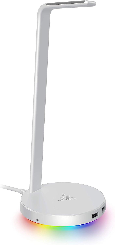 Razer Base Station V2 Chroma para Auriculares -Mercury White