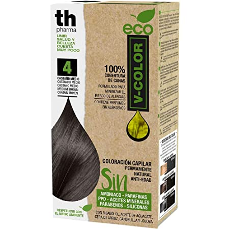 Th Pharma Th Eco Vitalia Color Tinte Nº 4 Castaño Medio 250 g ...