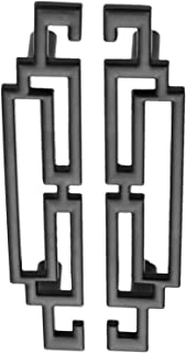 Tiradores para puerta de armario de cocina de 64 mm, color negro, 50 unidades, negro