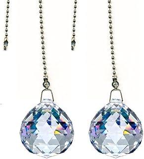 Katomi Magnífica de 20 mm bola de cristal prisma 4 piezas del ventilador de techo tirar de cadenas de cristal del deslumbramiento