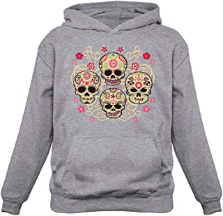 Rose Eye Sugar Skulls - Day of The Dead Gothic Women's Hoodie