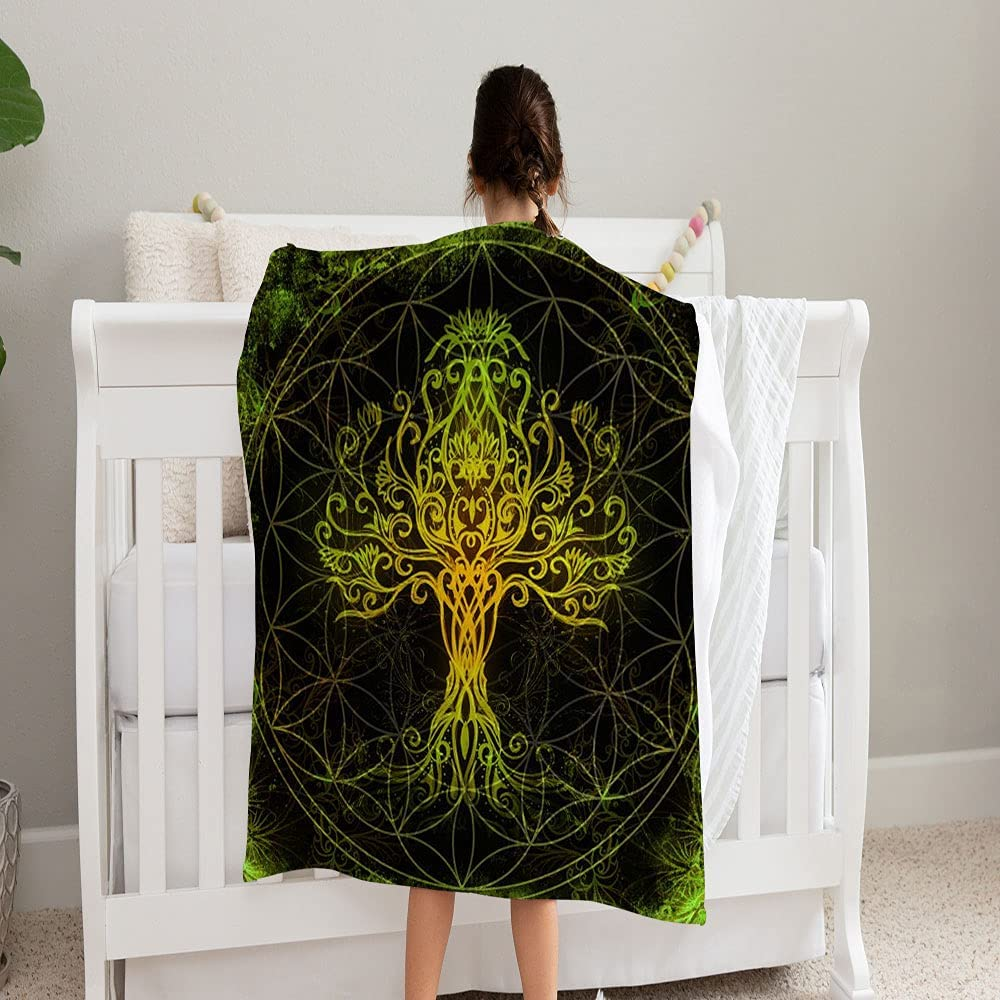 GANTEE Tree Life Symbol On Structured Blanket Super Save money San Francisco Mall Soft 1 and