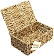 woodluv Seagrass Storage Basket with Small Lid