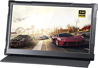 G-STORY 15.6 Inch UHD 4K Eye-Care Portable Gaming Monitor with FreeSync/HDR/2160P/Type-C/HDMI/Built-in Speaker/Vesa Option(Black)