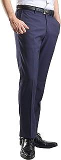 【MARUTOMI】裾上げ済 起毛素材 スリム スラックス メンズ パンツ ビジネスあったか素材 ストレッチ ノータック ウォッシャブル 洗える 秋冬 pab53