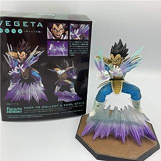 GYINK Dragon Ball Z Vegeta Zero Waving Ver.Action Figure in PVC 16Cm, DBZ Black Hair Vegeta Vs Goku Collection Model
