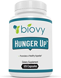 HUNGER UP™ - Best Appetite Stimulant by Biovy (with No Magnesium Stearate) - Effective Weight Gain Pills Including Fenugreek extract To Increase Appetite & Gain Weight In All The Right Places