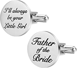 Gift for Dad on Wedding or Batchelor Party Father of the Groom Maple Wood Cufflinks /& Engraved Box Wedding Cuff links Party Favor