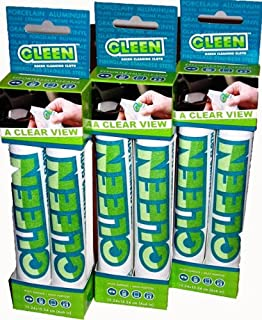 Gleen 3825 Clearview Cloth 6-inch by 6-inch, (Pack of 6)