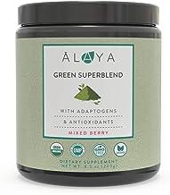 Alaya Organic Super Greens Powder - Premium Green Juice Superfood Supplement Powder - Adaptogens, Antioxidants & Probiotic...