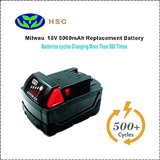 5000mAh 18650 Battery Pack MIL18D Lithium Battery 18V Replacement Milwau 18V battery M18 48-11-1850 48-11-1815 48-11-1820 Battery Pack 18V