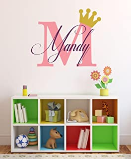 Baby Girl Initial Personalized Custom Name Vinyl Wall Decal 28