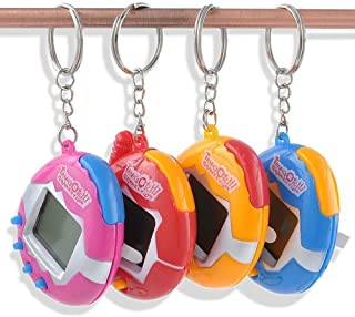 DierCosy A Pack of pet Toys Funny Retro 49 Pets in a Virtual pet Network Toy Tamagotchi Digital pet Key Ring (2Pcs 1.5V Button Battery) Random Color