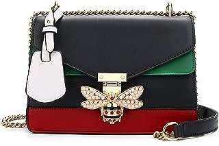 Designer Shoulder Fashion Bee PU Leather Handbag for Women, Fashion Crossbody with Pearl