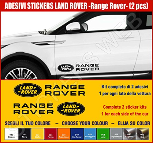 Pimastickerslab Aufkleber-Set für Land Rover Range Rover Evoque 2 Aufkleber Tuning Auto Wählen Sie Farbe - Car Kit Nr. 2 Code .0501, Nero cod. 070