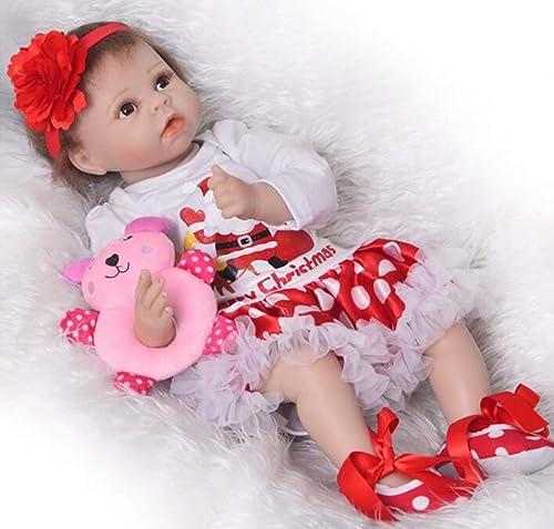 O-YLS 22Zoll 5cm Reborn Babys Puppe Augen Offen mädchen Handarbeit Baby Dolls Weißes Silikon Vinyl Magnetisch Spielzeug