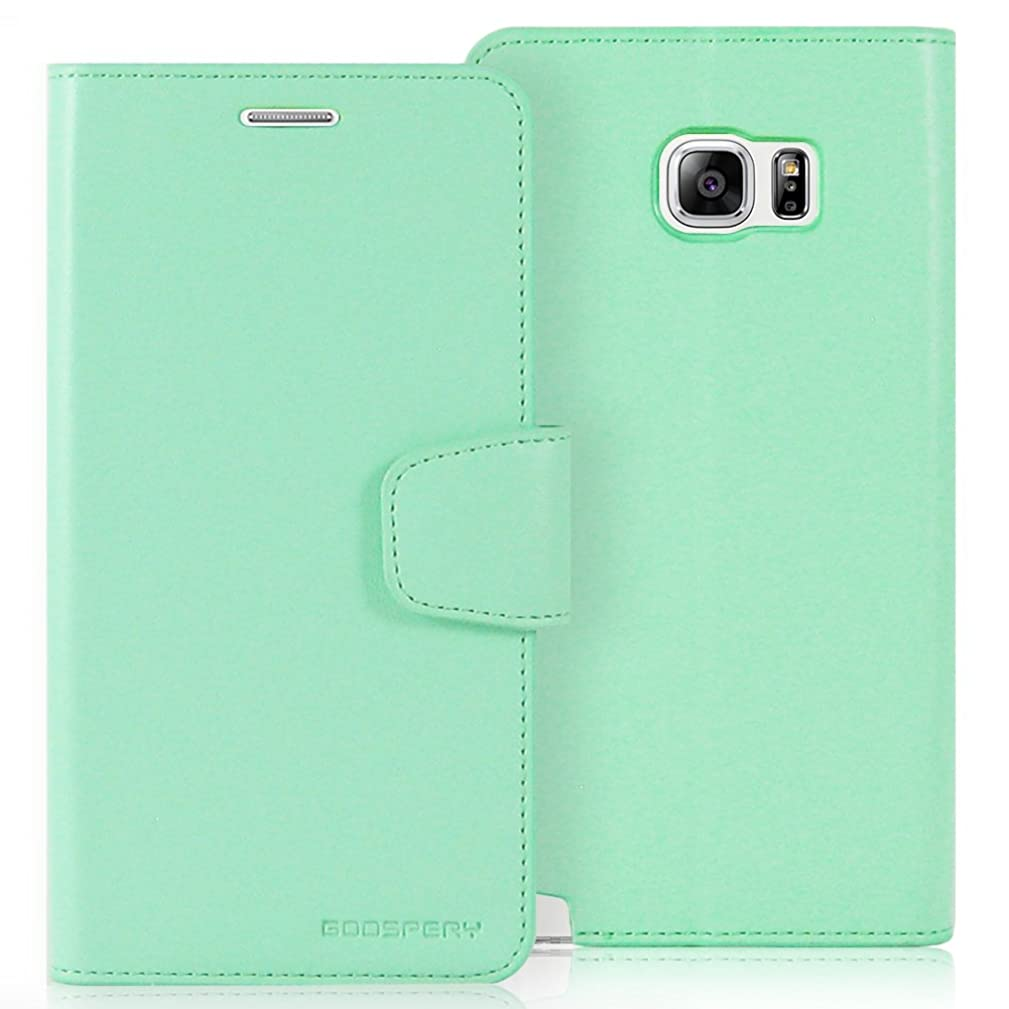 Galaxy Note 5 Case, [Drop Protection] Goospery Sonata Diary [Wallet Type] Premium Soft Synthetic Leather Case [ID/Credit Card Slots + Cash Pocket] Cover for Samsung Galaxy Note 5 (Mint) NT5-SON-MNT