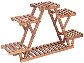 6 Tier Houten Bloemenrek Plant Stand Bloem Stand Bonsai Display Plank Yard Tuin Patio Balkon Bloem Staat