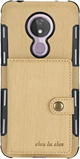 for Moto G7 Power PU Leather Flip Wallet Phone Case Ultra Slim Luxury Brushed Cover with Credit Card Slots Purse Back Cover