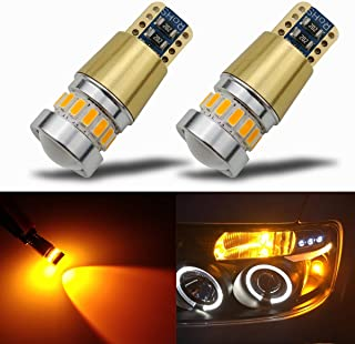 KISLED Super Bright 3000lm 5201 5202 LED Fog Lights Bulbs DRL High Power 3030 Chips with Projector Lens Replacement for Ca...