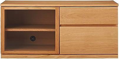 無印良品 木製AVラック・幅110cm・オーク材 幅110×奥行44×高さ50.5cm 82219210