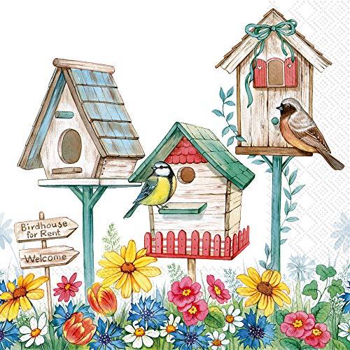 Boston International L858600 IHR 3-Ply Papierservietten, Papier, Vogelhaus zu vermieten