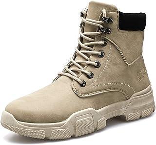 Hombre Botas de Ciudad Al Aire Libre Senderismo Impermeables Deportes Trekking Zapatos Retro Piel Sneakers Calientes Botines