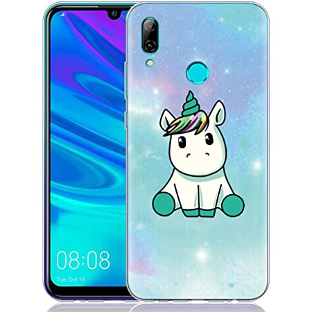 Yoedge Coque Huawei P Smart 2019, Etui en Silicone Transparente avec Motif Design Antichoc Housse de Protection Flim Case Cover Coque pour Telephone ...