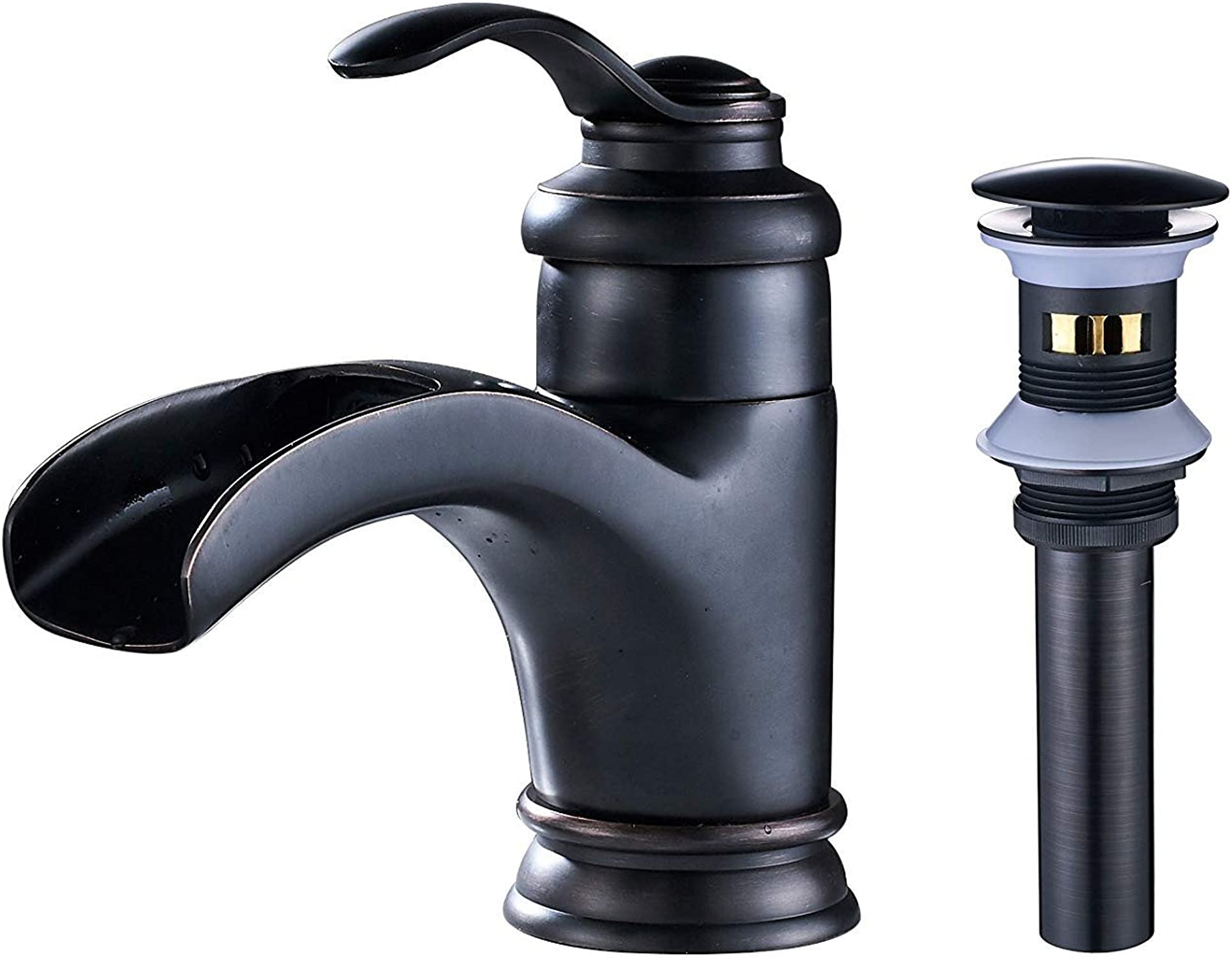 perfecto MGADERO Grifo de Lavabo Bao Bao Bao Grifo para Fregadero Cocina Mezclador Cascada Grifo lavabo de descarga con una sola palanca emergente bronce frojoado aceite de drenaje  alta calidad y envío rápido