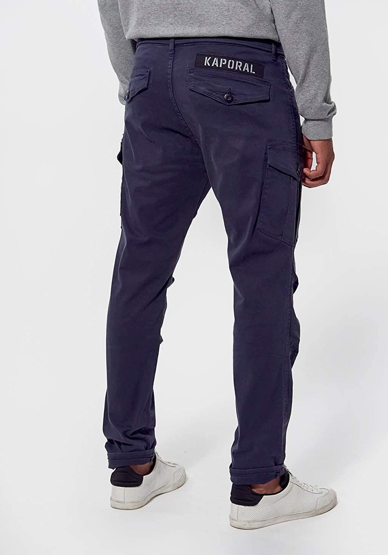 Kaporal - Pantalon Slim Homme Multipoches - Kali - Homme Bleu Night