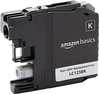 Amazon Basics Cartouche à jet d'encre capacité standard reconditionnée de rechange pour Brother LC123, Noir, Standard