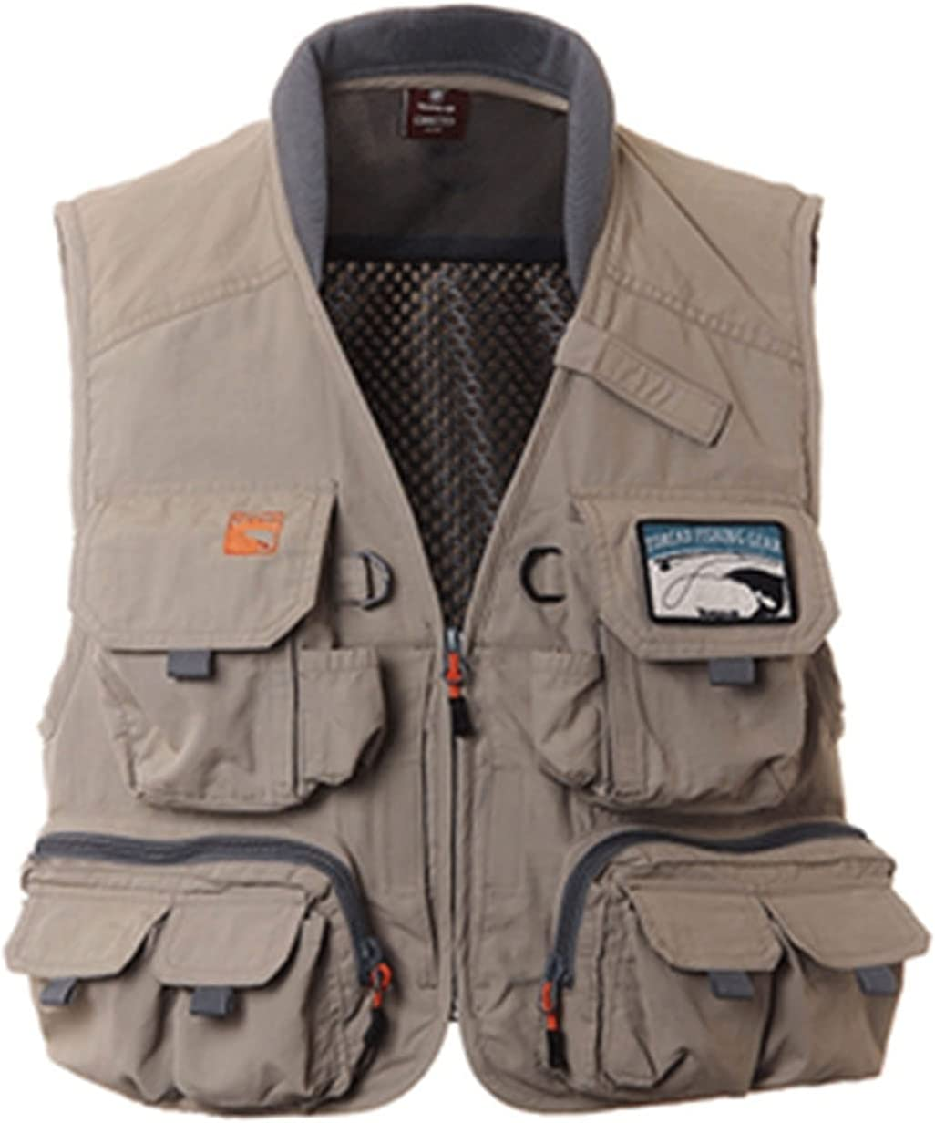 XIURAB Mens Limited price sale Multi-Pocket Fishing Vest Photography Large discharge sale Casual