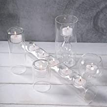 Candleholders Glass Candle Holders Set of 5 Used for Fireplace/Table/Wedding Home Decoration Candlestick Holder Candlestic...
