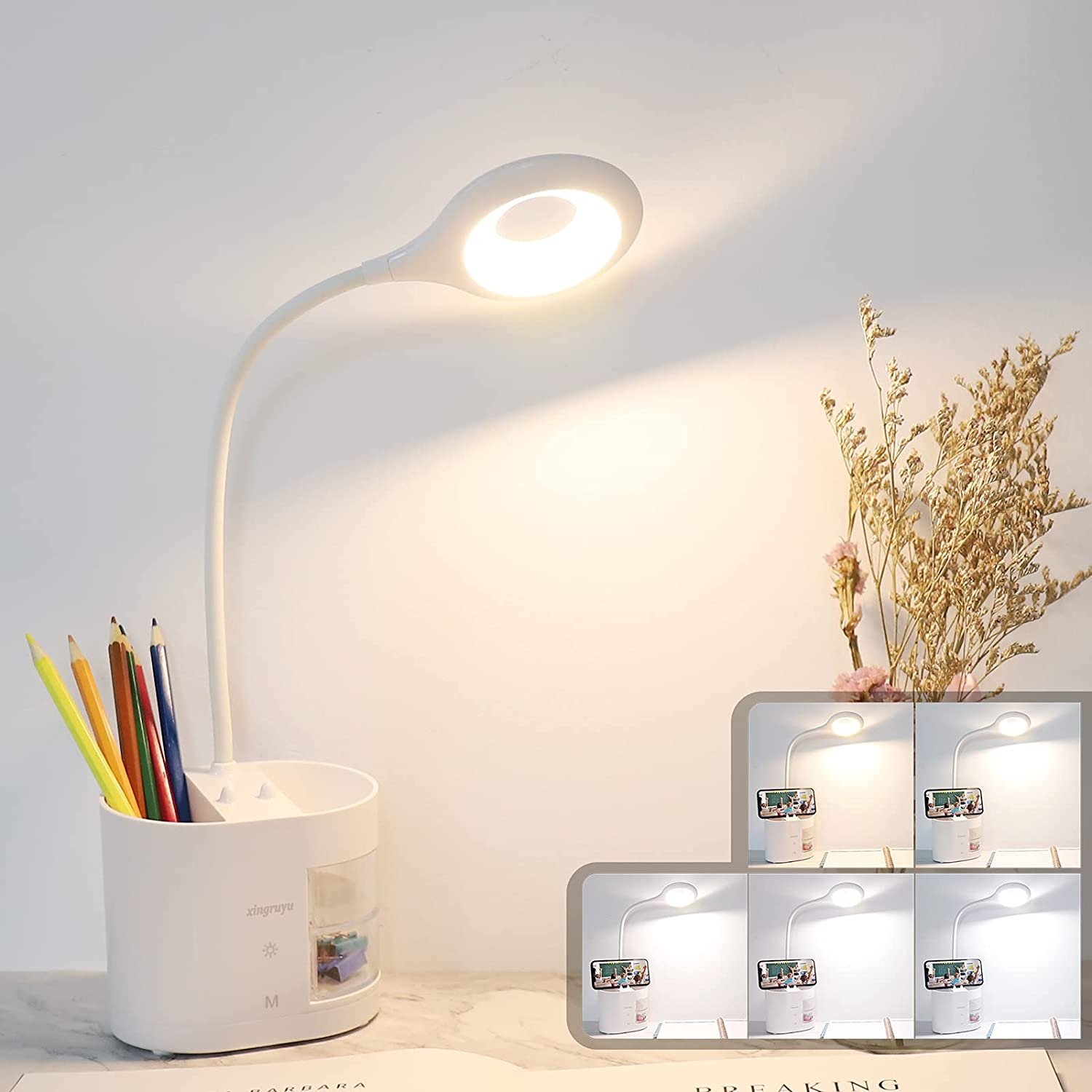 LED Desk Max 62% OFF Overseas parallel import regular item Lamp Xingruyu 28 5 LEDs M Color Rechargeable