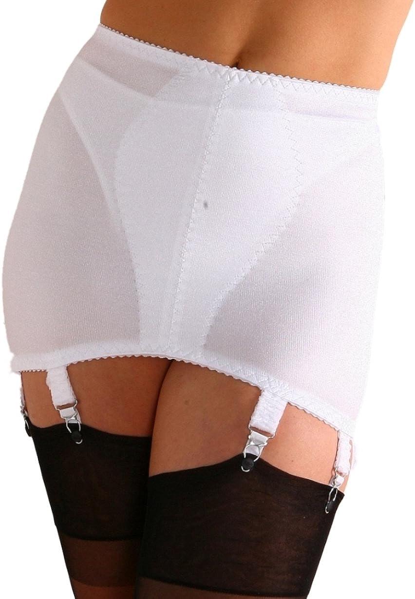 Lady Olga 8 Suspender Strap Roll On Open Girdle 418 Black or White
