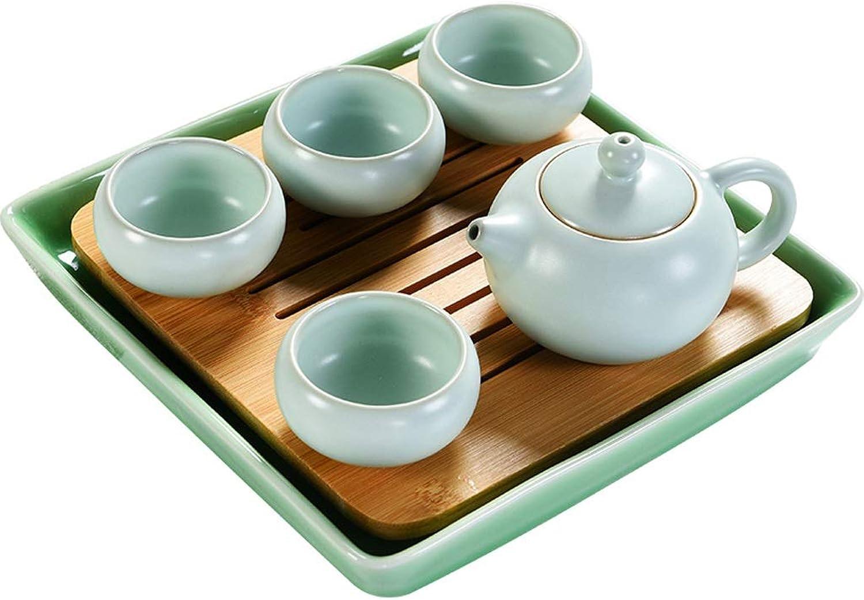YONGYONGCHONG Ensemble de thé en céramique Tasse de théière simple Accueil Plateau de thé Théière de voyage