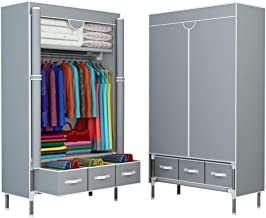 portable closet with drawers