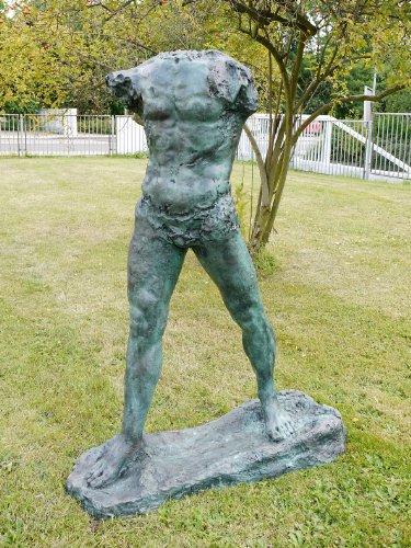 Kunst & Ambiente - The Walking Man (1900) - Auguste Rodin Skulptur - L'Homme qui Marche - Große Bronzeskulptur/Torso - Gartendekoration - Gartenskulptur in Bronze