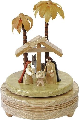 Boîte à musique mécanique scène de la Nativité, Erzgebirge originale de Richard Glaesser
