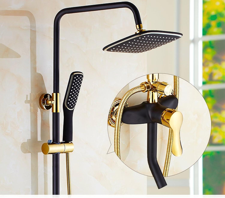 Dusche Set Wandhalterung,Bronze,Hausgebrauch,Regen Bidet Wasserhahn Und Eckige Dreiwegeventil Europisch Anmutenden Duschen-A