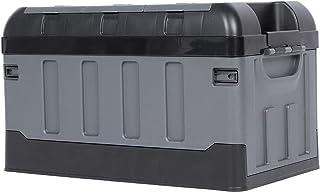 Cikonielf Boîte de Rangement pour Coffre 60kg Boîte de Rangement Pliable pour Voiture (Matte Black)
