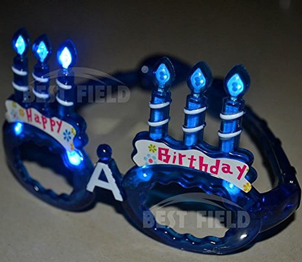HAPPY BIRTHDAY LED LIGHT UP FLASHING  GLASSES AUSSIE SELLER FAST FREE POST