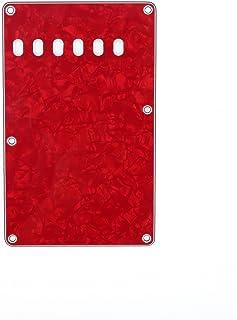 Musiclily 6 Agujeros Placa Trasera Vintage Strat Tapa de Trémolo para Fender American/México Standard Stratocaster Estilo Moderno,4 capas Red Pearl