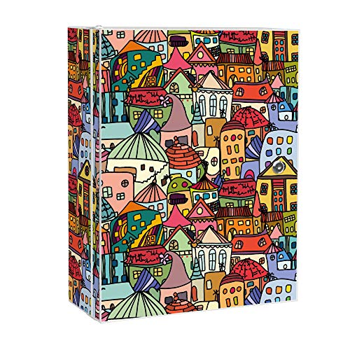 banjado XXL Medizinschrank abschliessbar | großer Arzneischrank 35x46x15cm | Medikamentenschrank aus Metall weiß | Motiv Funky Town mit 2 Schlüsseln | Gestaltung auf Front und Seiten