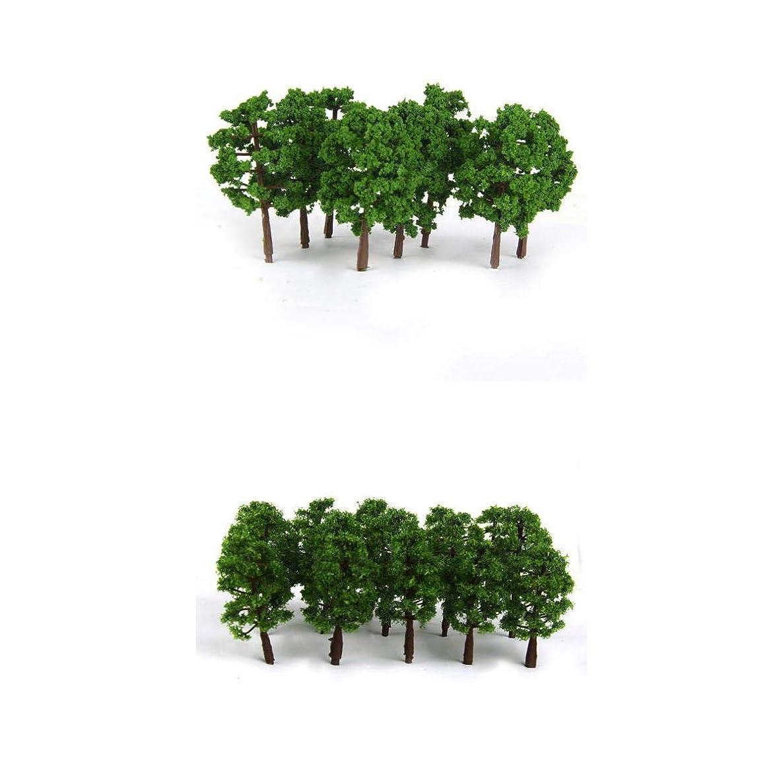 MagiDeal 40x Greenery Tree Models 1/150 N Scale Layout Train Railway Scenery Building