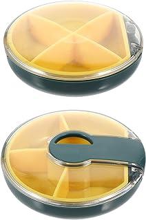 rosenice 2個ピルピルスプリッタカッター医学スライサーピル主催医薬品の収納ケース医学ディスペンサー丸薬のためのビタミン