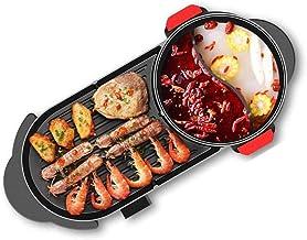 DYXYH Hot Pot électrique, 2-in-1 multi-fonction électrique Hot Pot Barbecue Pot, Convient for plus de 6 personnes